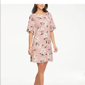 Ann Taylor Factory Floral Angel Sleeve Shift Dress